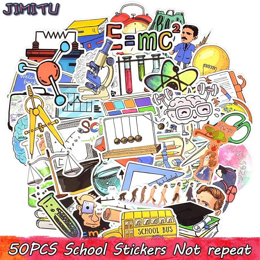 50 шт., Science Lab, стикер с мультяшным рисунком, Физическая химия, наклейка для студентов, сделай сам, ноутбук, Канцтовары, багаж, гитара, забавные ...