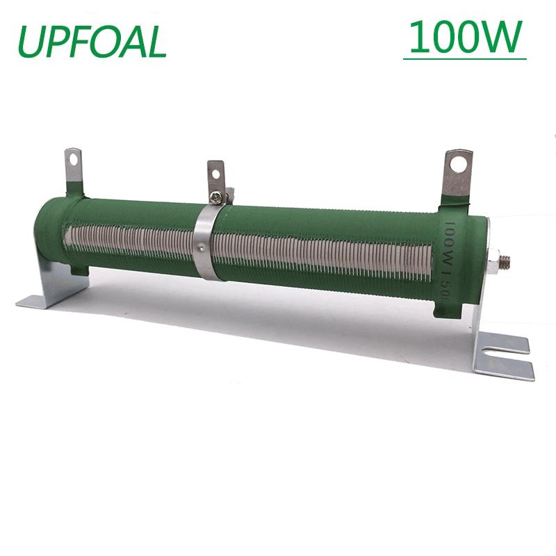 100 Вт переменный резистор, потенциометр, фарфоровая трубка, регулируемый резистор, Реостат со скользящим контактом