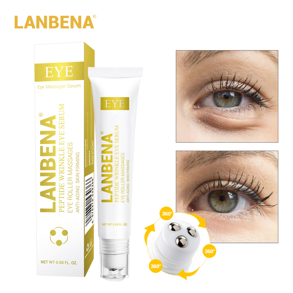 LANBENA Eye Serum Peptide Wrinkle Anti-Puffiness Dark Circle Anti-Aging Moisturizing Eye Care Beauty
