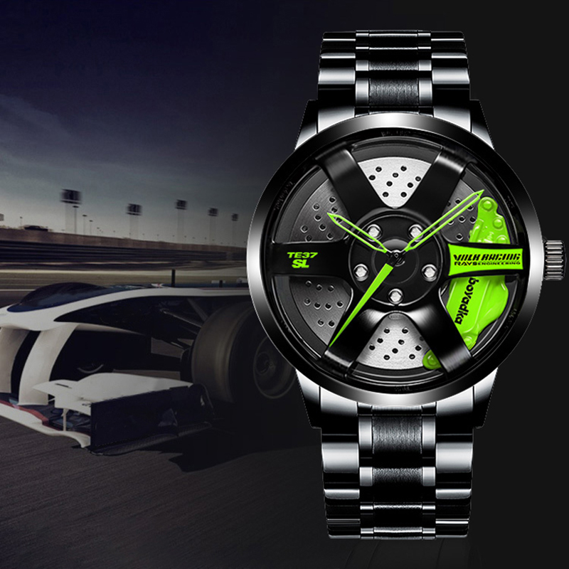 BOYADKA Watch Sport Car-Wheel Quartz Custom-Design Creative Waterproof Relogio Masculino