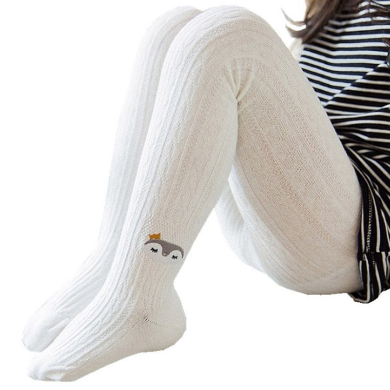 Baby Toddler Cable Knit Tights Kids Girls Cotton Cute Cartoon Full Length Footed Legging Pantyhose