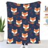 Red Foxes Throw Blanket Sherpa Blanket Bedding soft Blanket