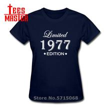 Newest Born In 1977 T Shirt woman Cotton O-neck Short Sleeve