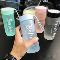 600ML Portable Sport Camping Cycling Travel Plastic Juice Water Bottle Fashion Large Capacity Bottles Heat Resistant Bottle