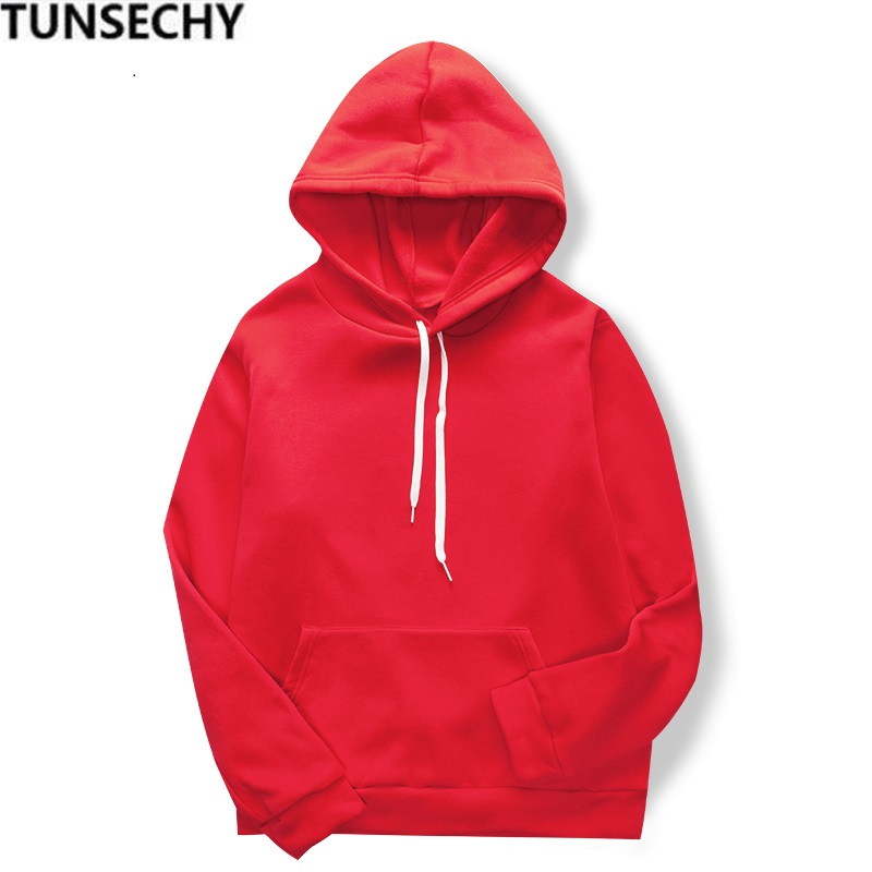 2020 Fashion Men's Long Sleeve Casual Solid Color Sport Hoodie High Quality Comfortable Solid Skateboard Hoodie Sweatshirt