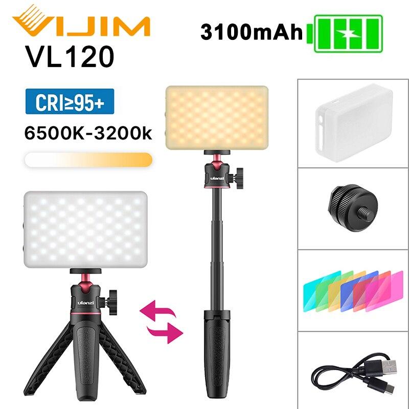 VIJIM VL120 DSLR LEVOU Luz de Vídeo No Vlog de Iluminação Fotografia Luz de Preenchimento para Smartphones Câmera DSLR SLR Lâmpada Com Frio sapato