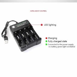 Image 5 - 3.7V 18650 Caricabatterie Li Ion Caricatore del USB della batteria di ricarica indipendente portatile sigaretta elettronica 18350 16340 14500 battery Charger