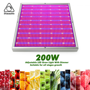 Image 4 - 2000LED Grow Light With Dimmer AC85~265V Indoor Greenhouse Tent Hydroponic Aquarium 200W Full Spectrum Adjustable Led Grow Lamp