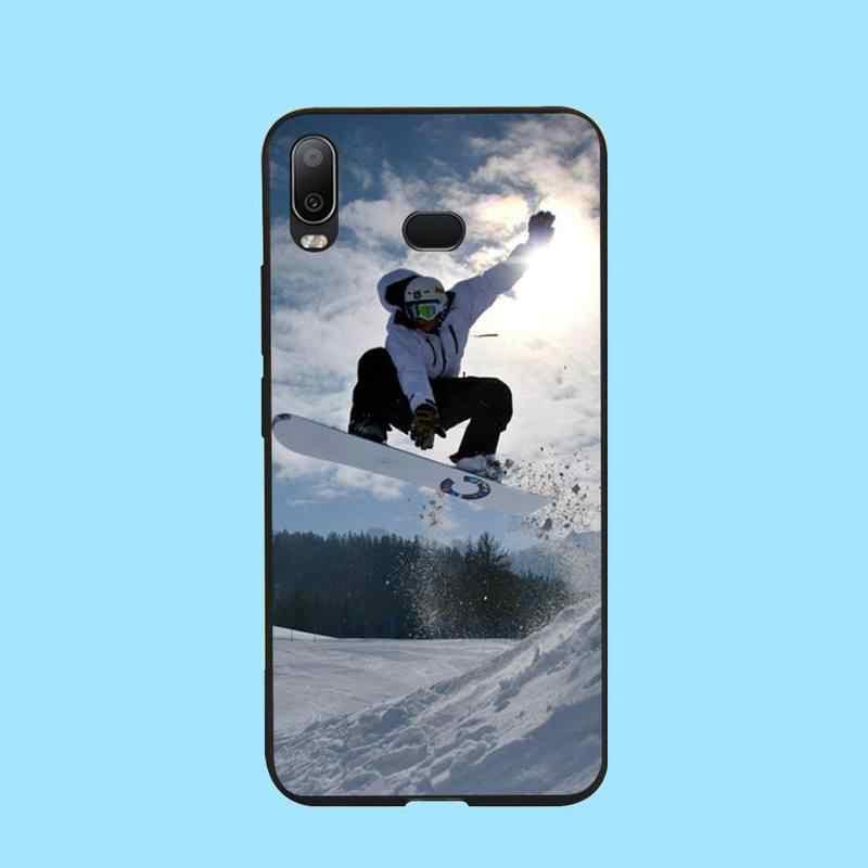 PENGHUWAN kar Snowboard kayak kapak siyah yumuşak kabuk telefon kılıfı için Samsung A10 A20 A30 A40 A50 A70 A71 A51 a6 A8 2018