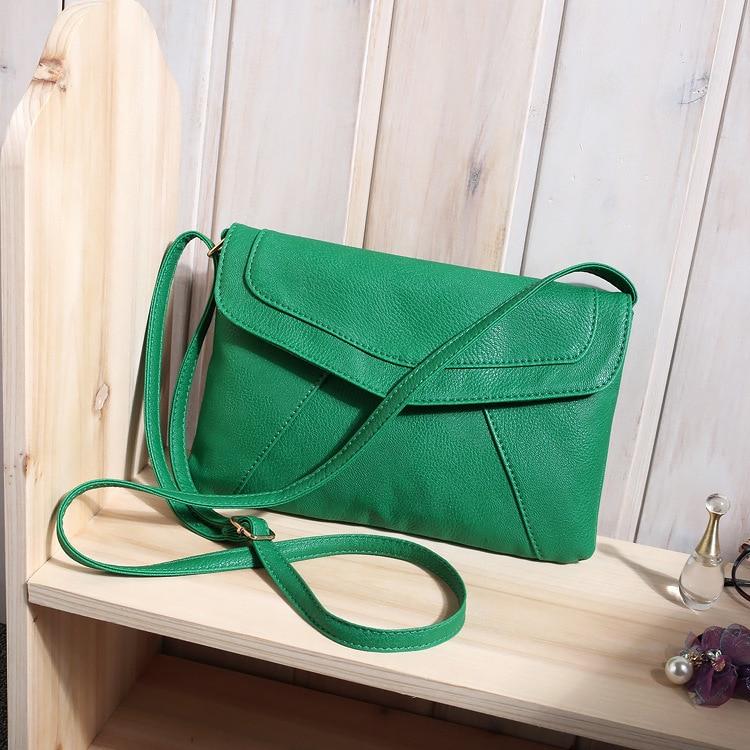 Маленькие сумки для женщин сумки-мессенджеры кожаные женские Newarrive милые сумки через плечо винтажные кожаные сумки Bolsa Feminina - Цвет: Green