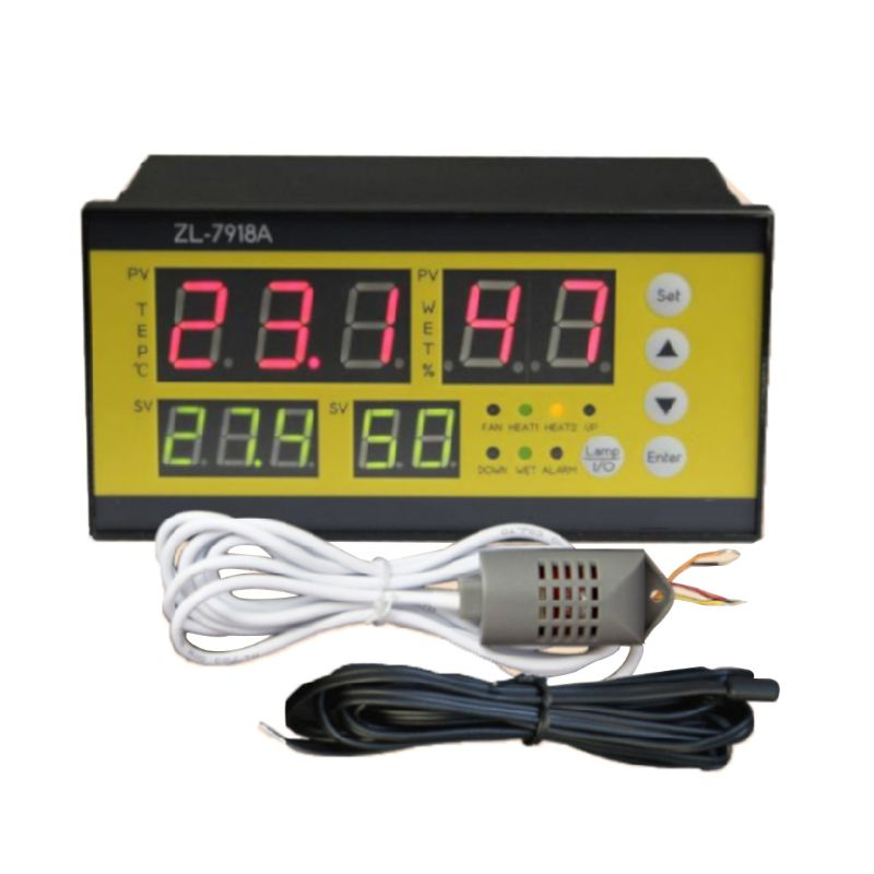 <font><b>ZL</b></font>-<font><b>7918A</b></font> Multifunction Automatic Incubator Controller 100-240V LCD Display Temperature Humidity Control XM 18 Thermostat Thermal image