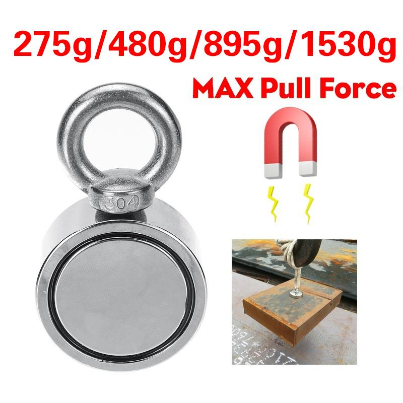 68//120KG Salvage Recovery Magnet Hook Strong Sea Fishing Diving Treasure Hunting