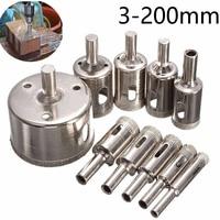 1Pcs 3-200mm Beschichtet Diamant Bohrer Glas Core Loch Sah Für Glas Fliesen Marmor Öffnung elektrische Power Bohren Werkzeuge
