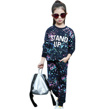 Girls Sports Clothes Set Sweatshirt+Pants 2Pcs Acetive Suit For Girls Christmas Gift Winter Clothing For Girls 4 6 8 14 Years