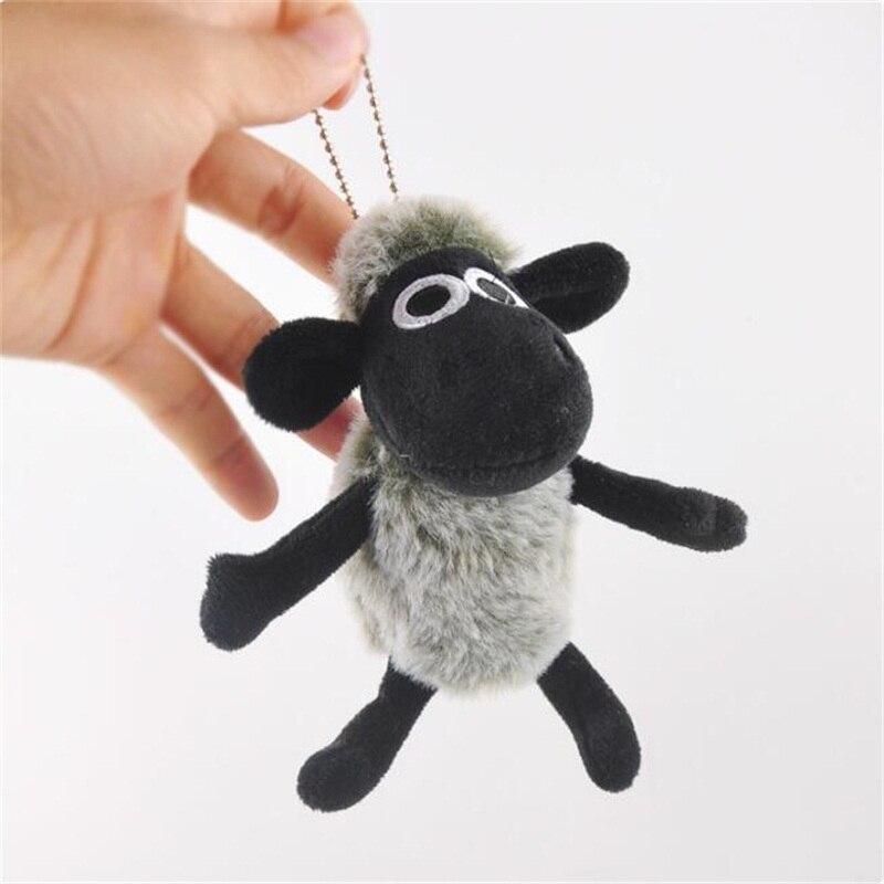 Cartoon Cute Fluffy Little Sheep Stuffed Animal Small Pendant Key Chain Children's Toy Stuffed Animal Christmas Birthday Gift