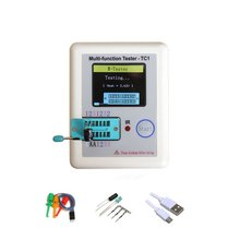 Wielofunkcyjny tester próbnik elektroniczny LCR-TC1 kolorowy wyświetlacz graficzny z baterią trioda dioda TFT miernik pojemności tanie tanio ACEHE CN (pochodzenie) Elektryczne NONE Tylko cyfrowy
