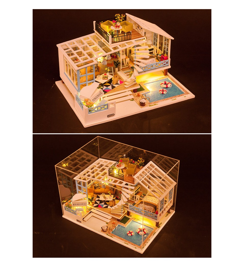 Crete Holiday DIY 3D Miniature Villa Dollhouse