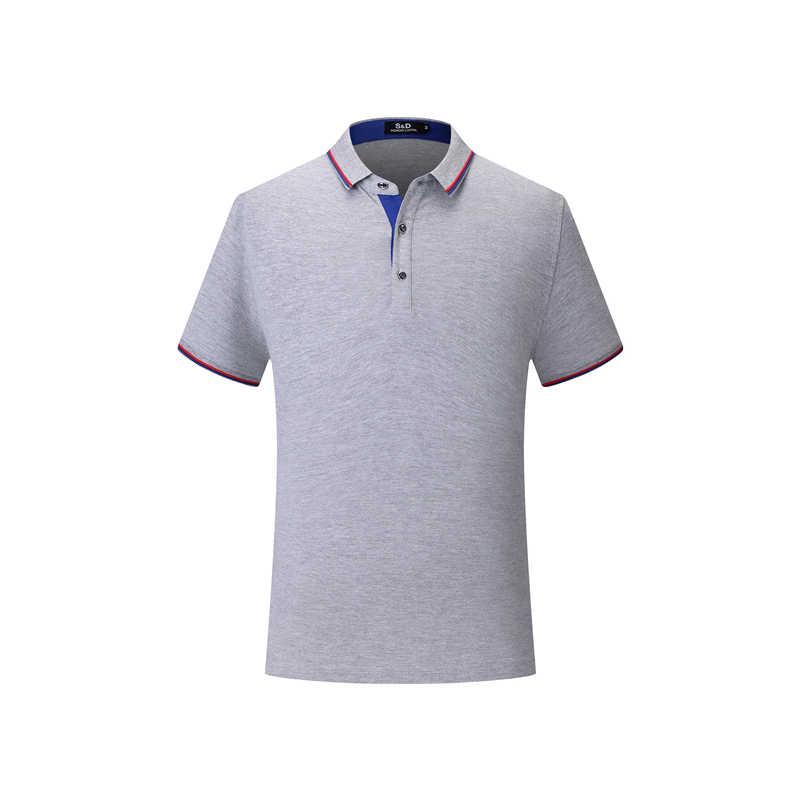 Kaus POLO Pria Kasual Musim Panas Atasan Kemeja Anak Laki-laki/Gadis Olahraga Liburan Pria Slim Polos Kancing Depan Lengan Pendek Homme de Marque