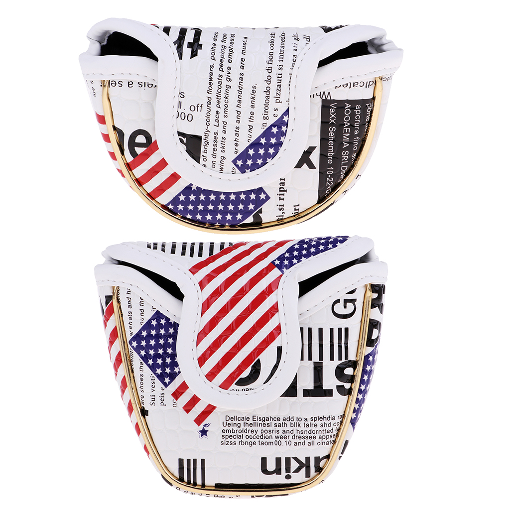 1Pcs Golf Mallet Putter Cover Putter Head Cover The Stars And The Stripes Pattern Golf Mallet Club Protector Golf Accessories
