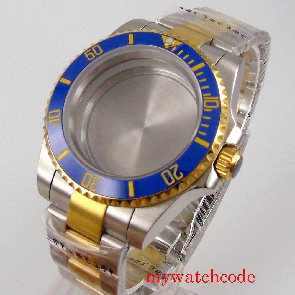 relógio de vidro safira plana caber nh35