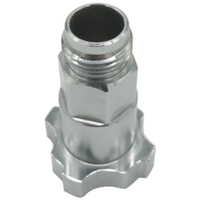 Junções 16x1.5 do potenciômetro do adaptador do copo do pulverizador de pps do conector do aerógrafo do pulverizador para o copo de medição descartável do pulverizador