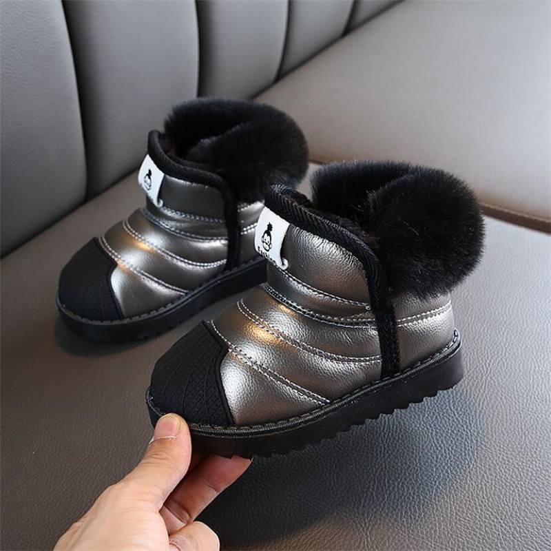 Children Snow Boots Winter Baby Boys Cotton Shoes Kids Girls Plush Velvet Warm Boots Shorts Waterproof Ankle Boots Fashion Shoes