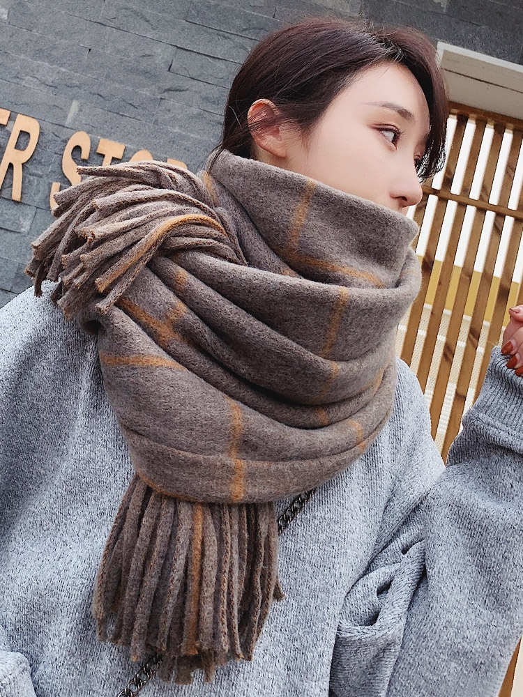 Brand Scarf Women Casual Neckwear In Winter Students Korean Knitting Thick Thick Warm Long Shawl Women In Autumn Winter Scarf