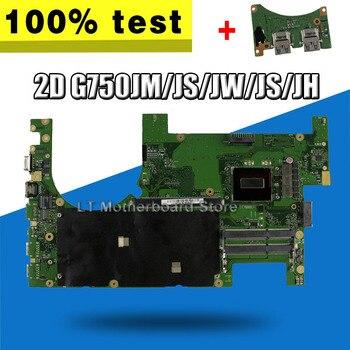 ¡Nuevo! Enviar placa + 2D G750JH G750JW G750JX placa base de Computadora Portátil para For Asus ROG G750J G750JH G750JW G750JX placa base i7-4710HQ I7-4700