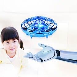 Горячий Летающий вертолет мини-Дрон НЛО Радиоуправляемый Дрон инфракрасный индукционный воздушный Квадрокоптер Обновление RC игрушки для