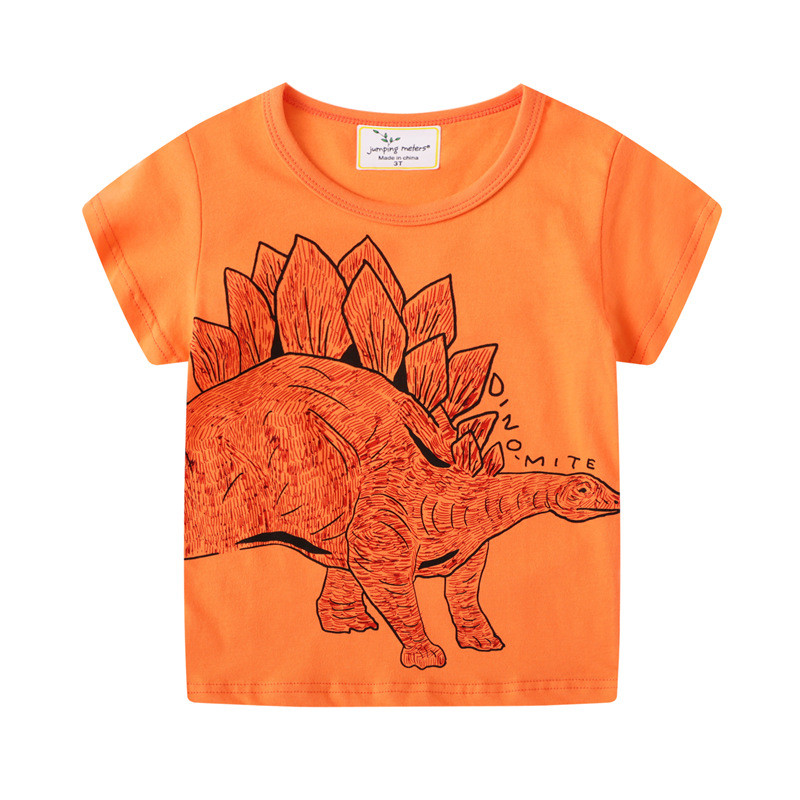 jumping meters Baby Boys Cartoon T shirt Kids New Tees Short Sleeve Summer Clothes With Printed Dinosaurs Top Children T shirts 1