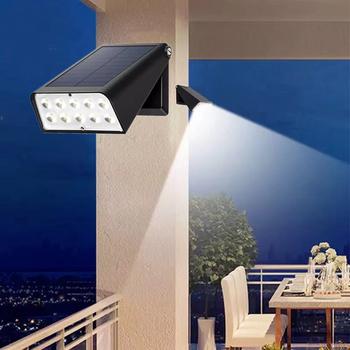 Lampa solarna ścienna LED bezprzewodowa zewnętrzna energia słoneczna światło słoneczne IP65 wodoodporna 10 LED lampa słoneczna do dekoracji domu ścieżka ogrodowa tanie i dobre opinie ADALBERTO CN (pochodzenie) ROHS Outdoor Stainless Steel LED Solar Path Stair Light 1 years Outdoor 10 LED Solar Path Stair Lamp