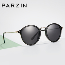 PARZIN TR90 Sunglasses Polarized Unisex Couple Style Round C