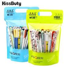 20/40/50/100Pcs/Set Nette Tier Löschbaren Gel Stifte 0,5mm Schwarz Blau Tinte gel Pen-Set Schule & Büro Schriftlich Schreibwaren liefert