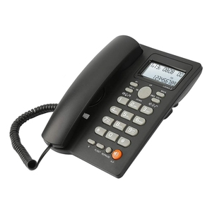 Image 3 - Desktop Corded Telephone with Caller ID Display, Wired Landline Phone for Home/Hotel/Office, Adjustable Volume, Real Time Date W
