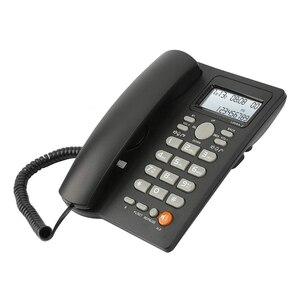 Image 3 - שולחן העבודה פתול טלפון עם תצוגת שיחה מזוהה, Wired קוויים טלפון עבור בית/מלון/משרד, נפח מתכוונן, אמיתי זמן תאריך W