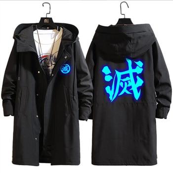 Anime Demon Slayer Kimetsu No Yaiba Tanjiro Kamado Cosplay disfraces cortavientos chaqueta abrigo para hombre disfraz de Halloween para hombres CS095