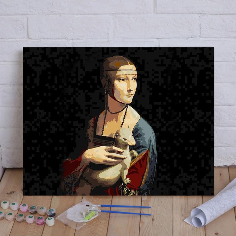 Купить рамка diy краска для рисования по номерам рисунок настенная