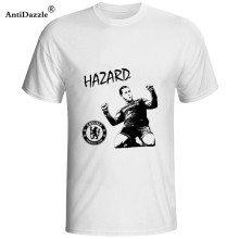 Antidazzle Chelsea speler Eden Hazard Mens & Womens Trendy T-shirt Katoen O Hals T-shirt(China)