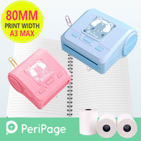 Peripage A3 Bluetooth Photo Printer Portable Mini Thermal Printer 80mm 58mm Receipt with Power Bank for Android IOS Phone