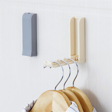 Wall Mounted Versatile Sticky Hanging Hook Collapsible Conceal Robe Towel Coat & Decorative