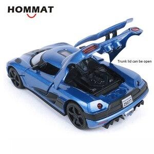 Image 5 - HOMMAT Simulation 1/32 Supercar Koenigsegg Agera R Sport Legierung 1:32 Gießt Druck & Spielzeug Fahrzeuge Autos Modell Autos Spielzeug Für Kinder