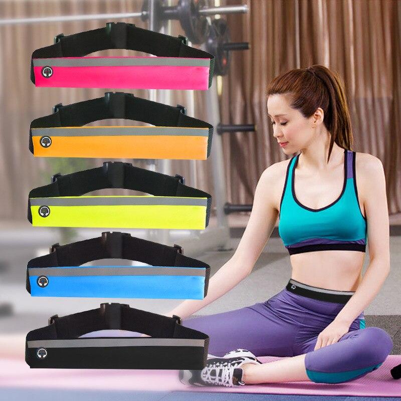New Adjustable Slim Running Waist Belt Jogging Bag Fanny Pack Travel Marathon Gym Workout Fitness 6.8in Phone Holder