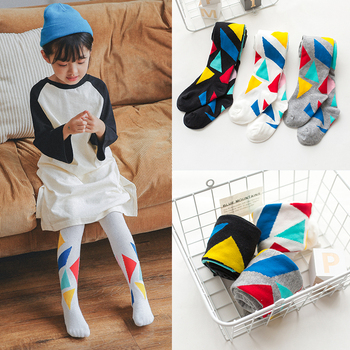 Spring Autumn 1-6y baby girls tights kids Children's fashion cotton stocking colorful pantyhose christmas birthday gift - discount item  20% OFF Children's Clothing