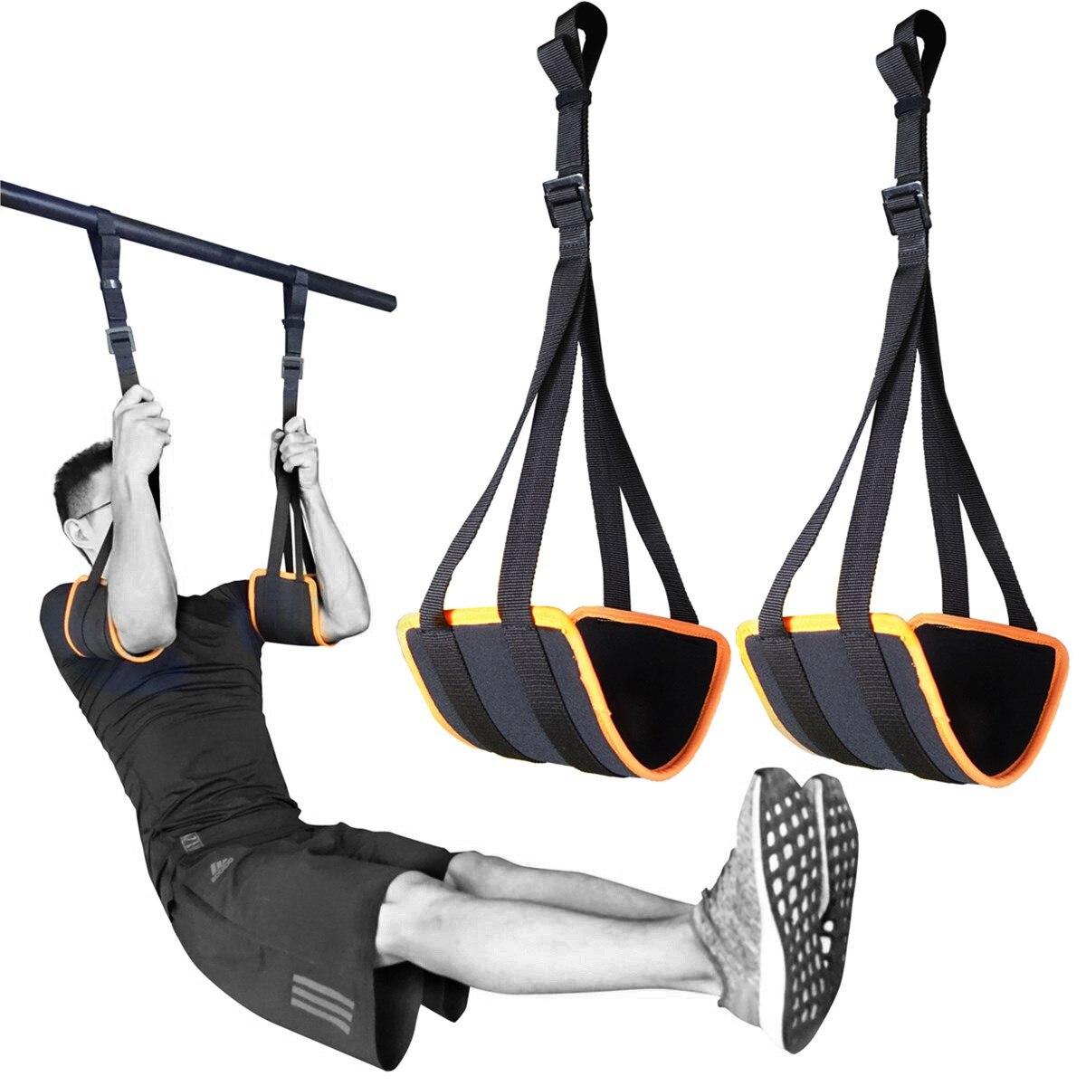 Sport Einstellbare Ab Straps für Pull Up Bar Hängen Bauch Slings Heavy Duty Strap und Neopren Padded Home Gym Core workouts