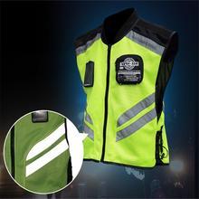 Светоотражающий жилет для езды на мотоцикле, Униформа, флуоресцентный всадник, светоотражающий сигнальный защитный жилет, мотоциклетная куртка с высокой видимостью