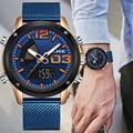 2019 LIGE новые часы Топ люксовый бренд из нержавеющей стали спортивные мужские часы Военные двойной дисплей водонепроницаемые часы Relogio Masculino