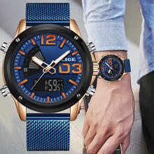 2019 LIGE New Watch Top Luxury Brand Stainless Steel Sports Men Watch Military D