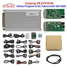 2020 Top quality Auto repair tool CARPROG V10.05 V10.9 Or V8.21 Online Version programmer 74hc125 chip car prog With 21 Adapters