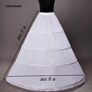 Image 4 - High Quality Ball Gown Wedding Petticoat 4 Hoops Crinoline Slip Underskirt For Women Bridal Puffy Skirt Accessories Sottogonna