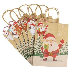 Image 4 - OurWarm Kraft Paper Bags Candy Box Christmas Goodie Bags Paper Gift Bags Paper Christmas Packaging Sweets Popcorn Box 23x9x18cm